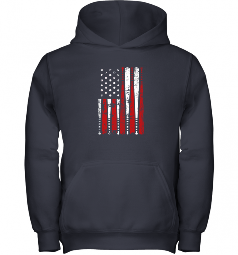 ykpl vintage baseball bat american usa flag gift youth hoodie 43 front navy