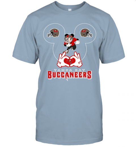 1zmc i love the buccaneers mickey mouse tampa bay buccaneers s jersey t shirt 60 front light blue