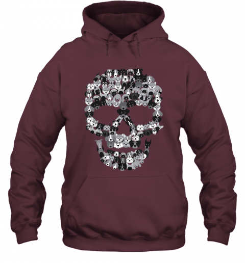 Dog Skull - Creepy Puppy Skeleton - Halloween Party Outfit Hoodie