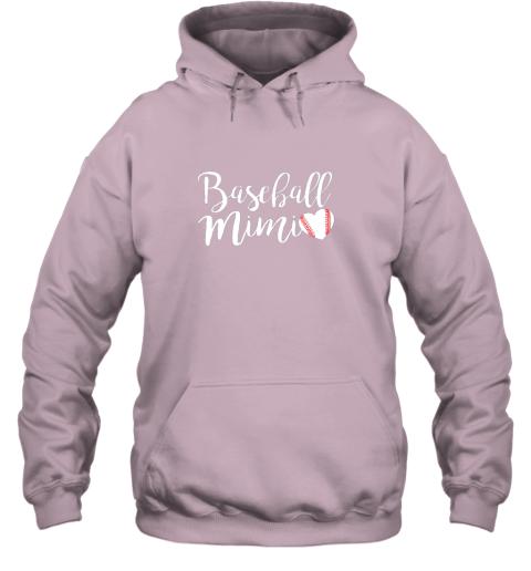 su3y funny baseball mimi shirt gift hoodie 23 front light pink