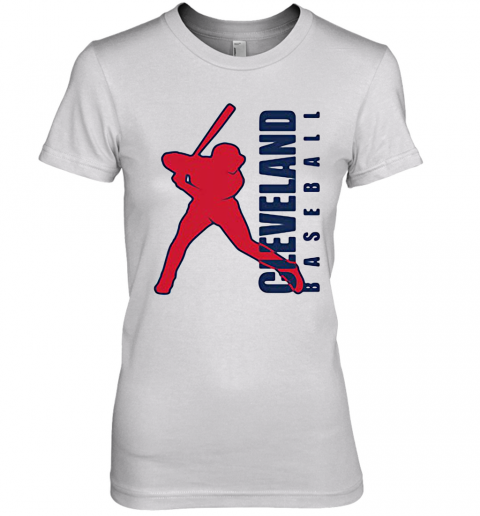 Cleveland Indians Baseball Player Premium Women's T-Shirt
