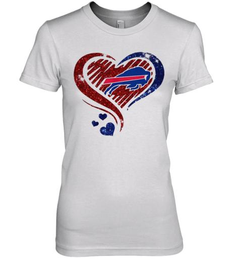 Buffalo Bills Love Heart Premium Women's T-Shirt
