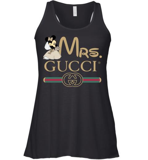 Gucci Disney Mrs Minnie Couple Valentine's Day Gift Womens Racerback Tank Top