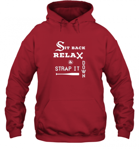 3erx sit back relax strap it down chicago baseball hawk hoodie 23 front red