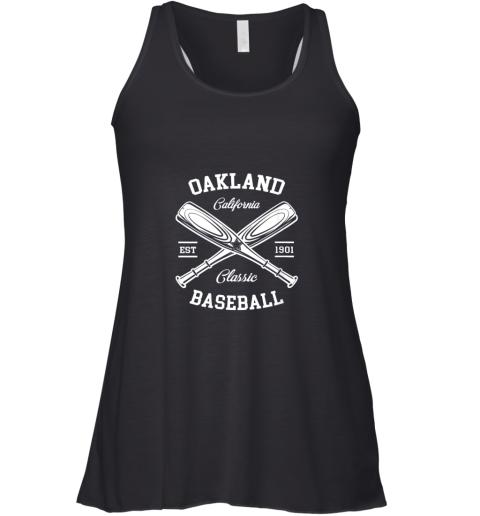 Oakland Baseball, Classic Vintage California Retro Fans Gift Racerback Tank