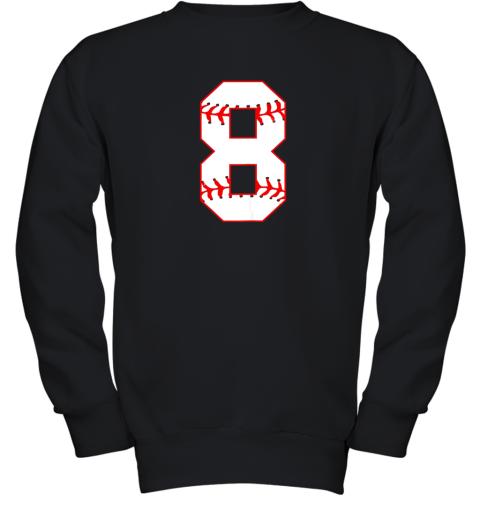 Cute eighth Birthday Party 8th Baseball Shirt Born 2011 Youth Sweatshirt