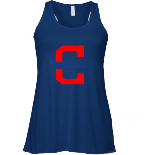 mzcq cleveland hometown indian tribe vintage for mlb fans flowy tank 32 front true royal
