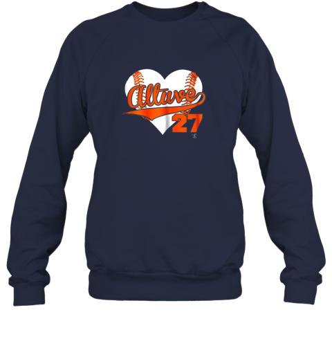 jzqw jose altuve baseball heart shirtapparel sweatshirt 35 front navy
