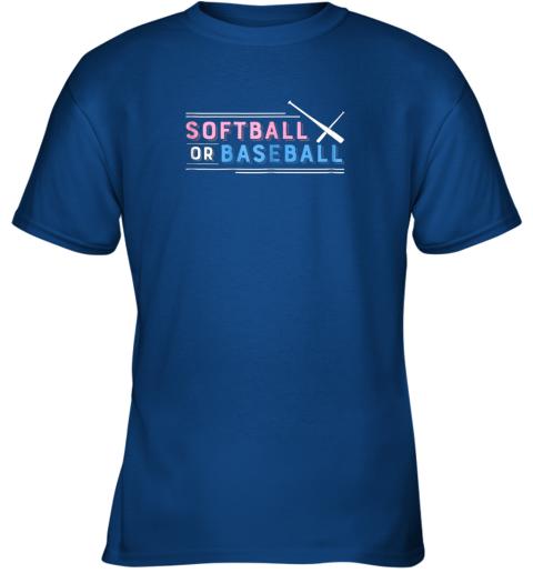 s55r softball or baseball shirt sports gender reveal youth t shirt 26 front royal