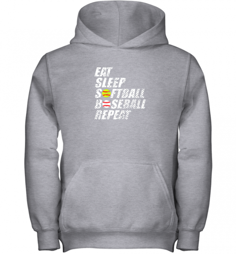 op3p softball baseball repeat shirt cool cute gift ball mom dad youth hoodie 43 front sport grey