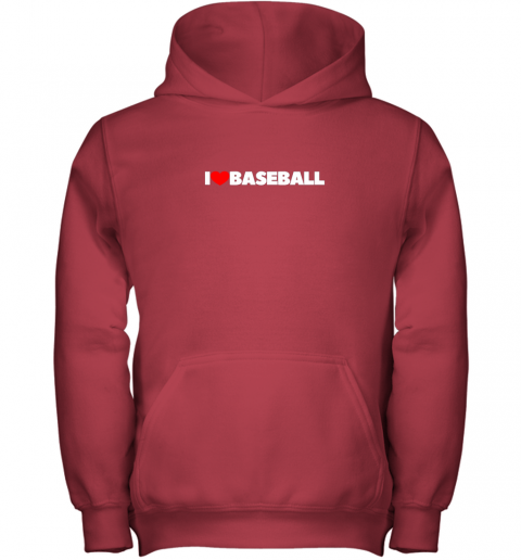 pymg i love heart baseball youth hoodie 43 front red