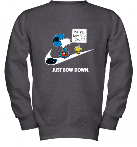 Carolina Panthers Are Number One – Just Bow Down Snoopy Youth Sweatshirt