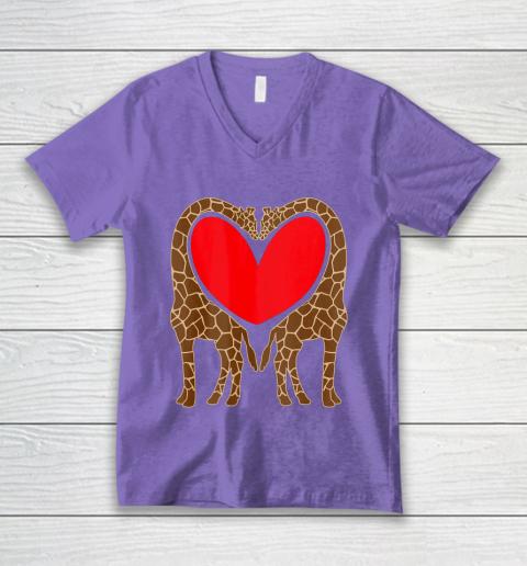 Cute Giraffe TShirt Fun Valentine Gift for Giraffe Lovers V-Neck T-Shirt 8