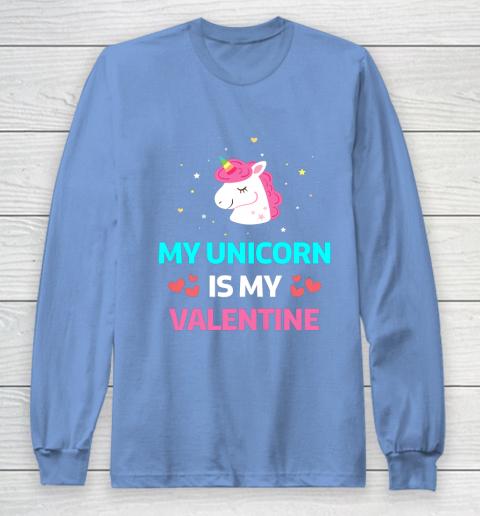 Funny Valentines Day Shirt Unicorn Is My Valentine Long Sleeve T-Shirt 8