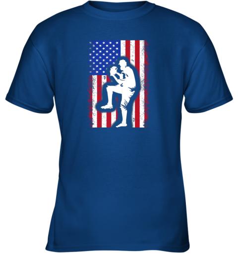 26y5 vintage usa american flag baseball player team gift youth t shirt 26 front royal