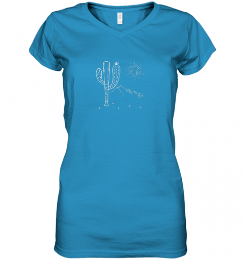 q2jt cactus baseball bat image shirt for america39 s pastime fan women v neck t shirt 39 front sapphire