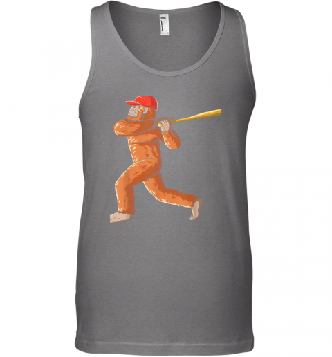 nui4 bigfoot baseball sasquatch playing baseball player unisex tank 17 front graphite heather