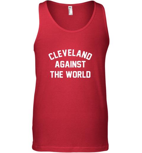 olan cleveland against the world football baseball basketball unisex tank 17 front red