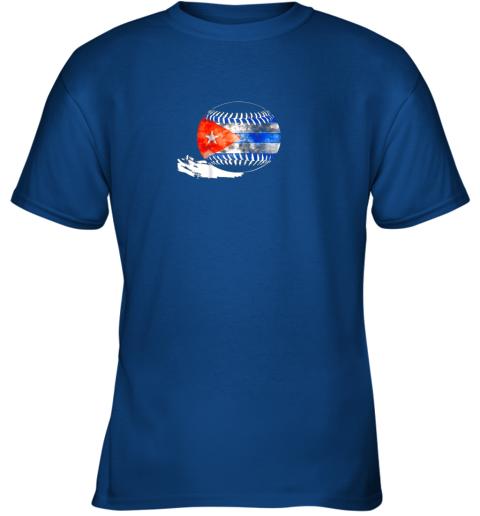6nwl vintage baseball cuba flag shirt cuban pride youth t shirt 26 front royal