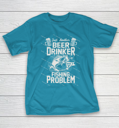 Beer Lover Funny Shirt Fishing ANd Beer T-Shirt 7