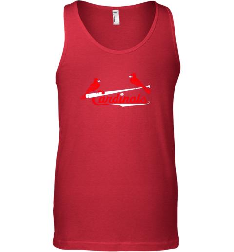 woos cardinal sports shirtst louis baseball fan unisex tank 17 front red