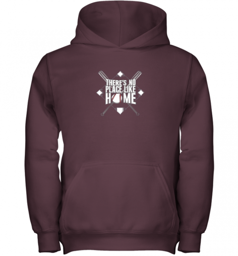 yz95 there39 s no place like home baseball tshirt mom dad youth youth hoodie 43 front maroon