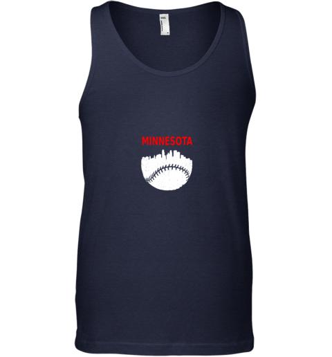 zzos retro minnesota baseball minneapolis cityscape vintage shirt unisex tank 17 front navy