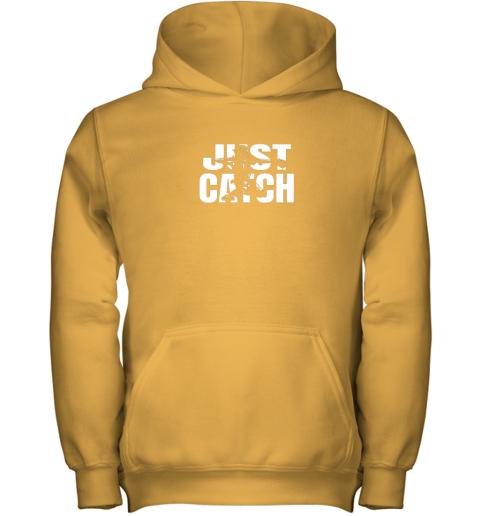 pqr4 just catch baseball catchers gear shirt baseballin gift youth hoodie 43 front gold