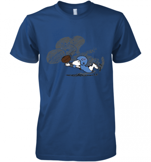 Tennessee Titans Snoopy Plays The Football Game Premium Men's T-Shirt