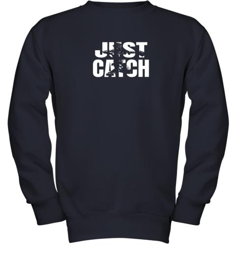 u1qs just catch baseball catchers gear shirt baseballin gift youth sweatshirt 47 front navy