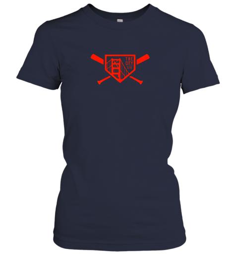 lslg cool san francisco baseball the city bridge sfo ladies t shirt 20 front navy