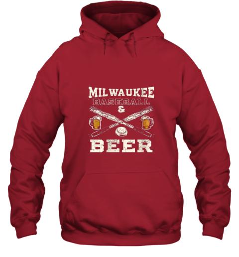 yx9o love milwaukee love baseball hoodie 23 front red