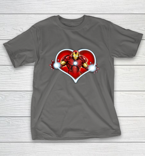 Marvel Iron Man Heart Blaster Glow Valentine Graphic T-Shirt 18