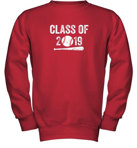 3ovu class of 2019 vintage shirt graduation baseball gift senior youth sweatshirt 47 front red