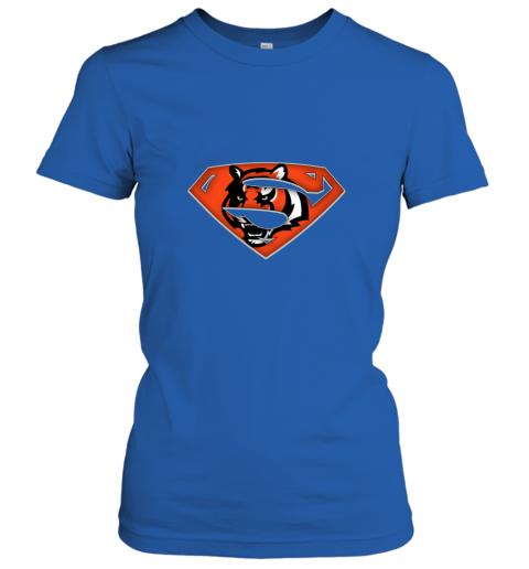 7mnr we are undefeatable the cincinnati bengals x superman nfl ladies t shirt 20 front royal