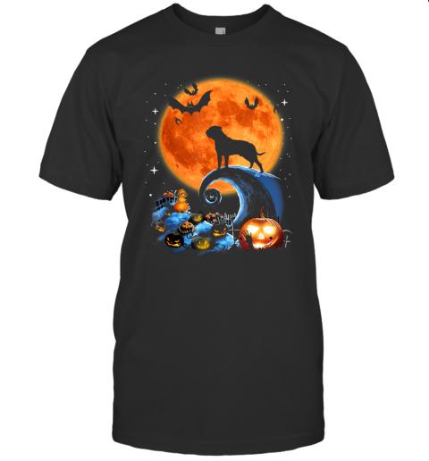 Bullmastiff Dog Moon Pumpkin Halloween Costume Gift T-Shirt