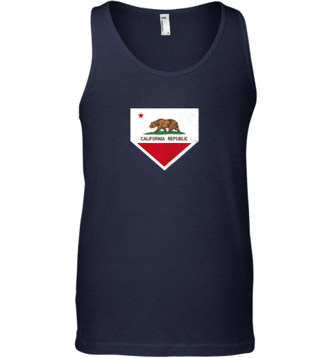 gtw7 vintage baseball home plate with california state flag unisex tank 17 front navy