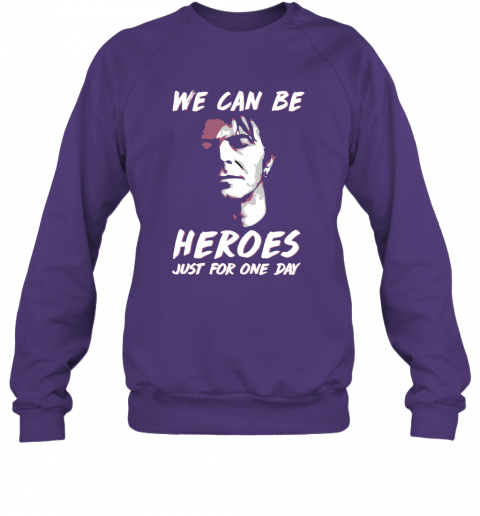 3vk7 david bowie we can be heroes just for one day shirts sweatshirt 35 front purple