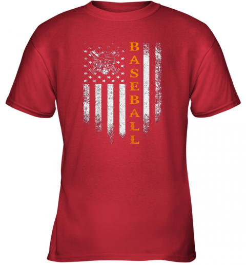 0vsi vintage usa baseball distressed american flag patriotic gift youth t shirt 26 front red