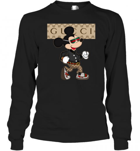 Gucc Mickey Mouse Adult Long Sleeve T-Shirt