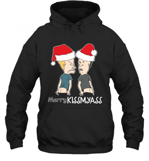Merry Kissmyass Kiss My Ass Beavis And Butt Head Christmas Hoodie