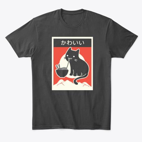 Black Cat Eating Ramen Japanese Kawaii Cat T-Shirt