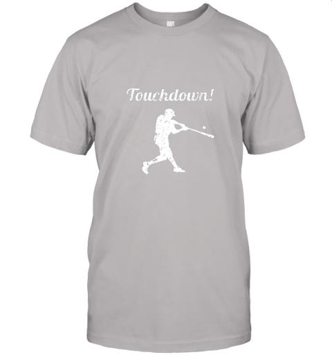 381s touchdown funny baseball jersey t shirt 60 front ash