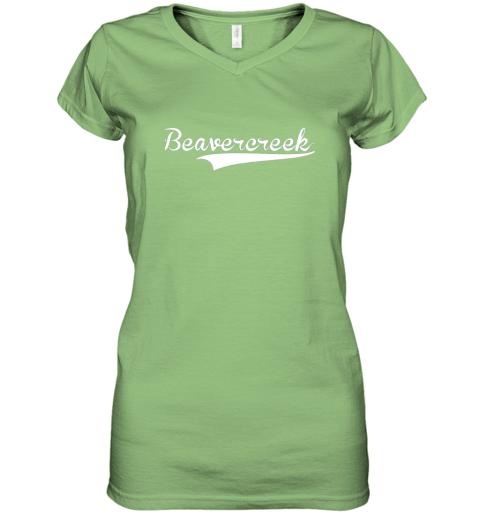 c0yn beavercreek baseball styled jersey shirt softball women v neck t shirt 39 front lime