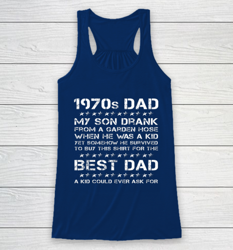Funny 1970s Dad And Son Father's Day Racerback Tank 6