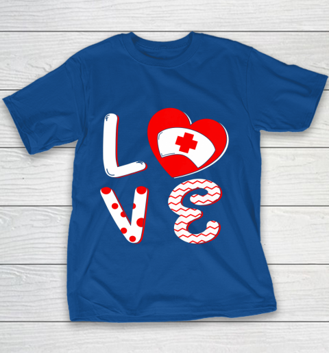 Medical Nurse Valentine Day Shirt Love Matching Youth T-Shirt 6