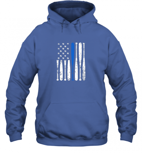 tmsl thin blue line leo usa flag police support baseball bat hoodie 23 front royal