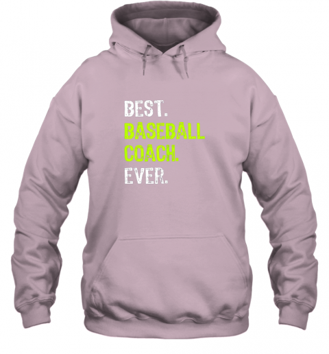 ldrm best baseball coach ever funny gift hoodie 23 front light pink