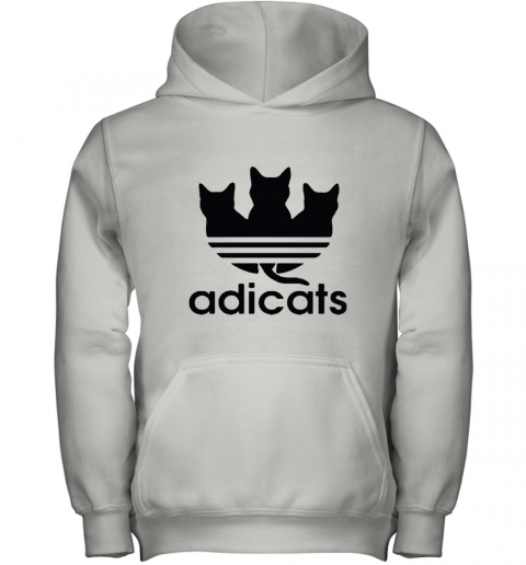 Adicats Three Black Cats Adidas Logo Mashup Youth Hoodie