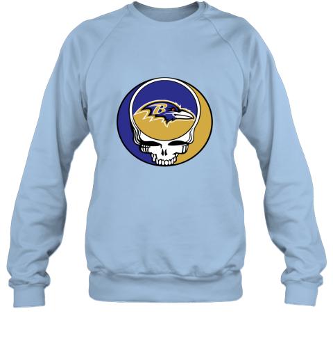 vxbc nfl team baltimore ravens x grateful dead sweatshirt 35 front light blue